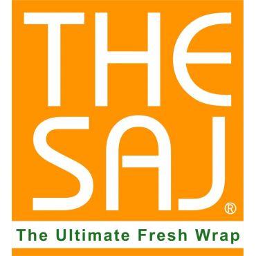 The Saj Pizza & Wrap logo