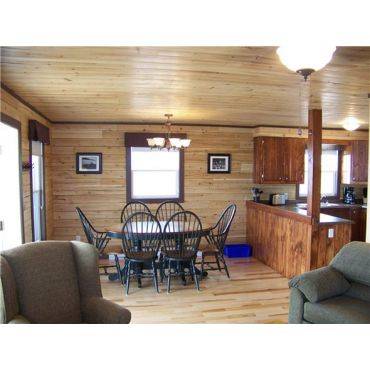INTERIOR OF ONE OF OUR LOG HOMES