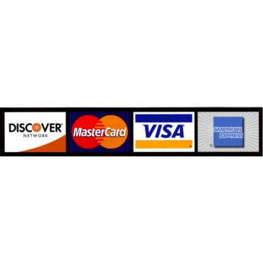 We accept any of these payment methods!
