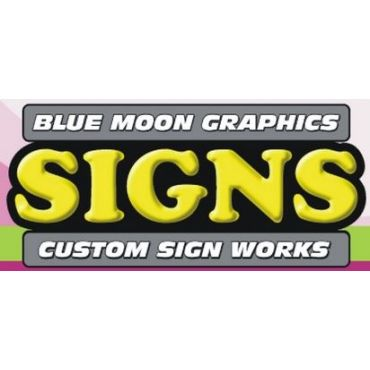 Blue Moon Graphics and Custom Sign Works logo