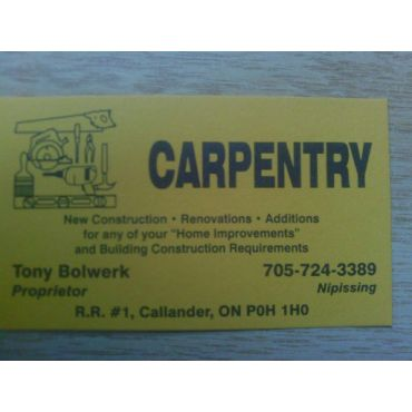 Tony Bolwerk Carpentry logo