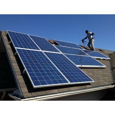 Professional solar PV installation