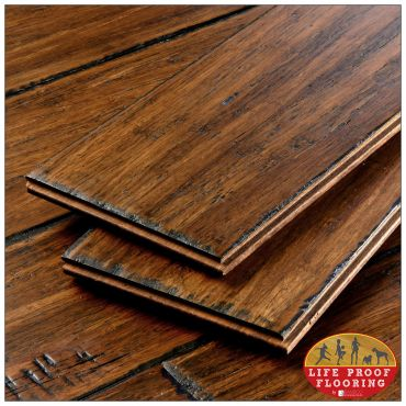 Antique Java Fossilized wideplank bamboo