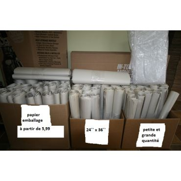papier emballage vaisselle etc...