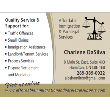 Affordable Immigration and Paralegal Support PROFILE.logo