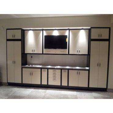 Custom steel garage cabinets