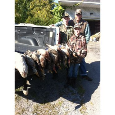 Happy clients with there duck count