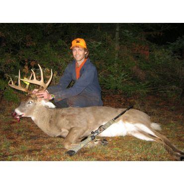 Nice 11 pt on guided deer hunt