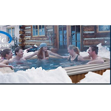Winter fun in the Pacific spa hot tub