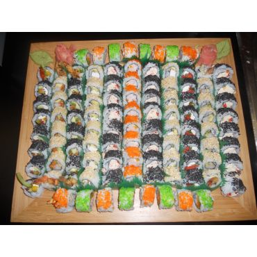 Assorted Sushi that the Blue Fin offers