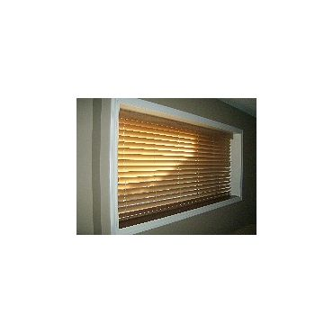 Faux Wood Blinds, not just in white.