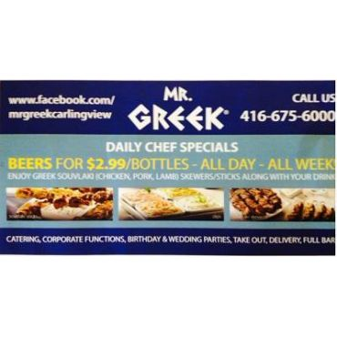 Beer on Specials at Mr Greek Carlingview