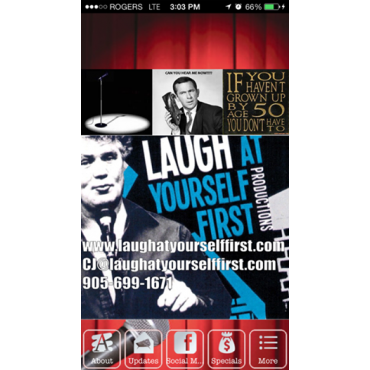 Laugh at Yourself First Productions logo