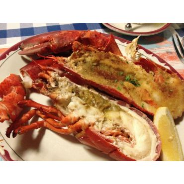 Lobster Half Broiled and Steamed