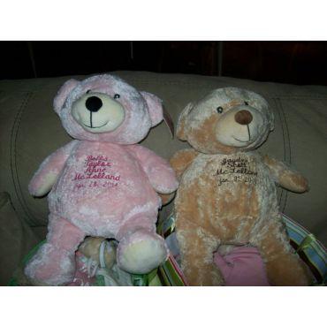 Custom Emroidered Names on Teddy Bears