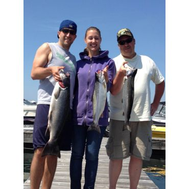 Another fine catch of Atlantic Salmon