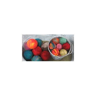 Dryer balls handmade in Nova Scotia
