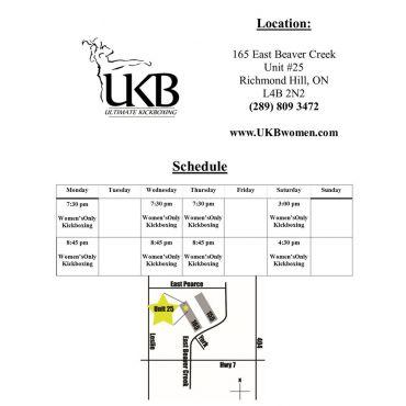 Schedule at UKB Richmond Hill
