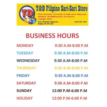 T&D Filipino Sari-Sari Store logo