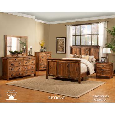 Rustic solid maple bedroom