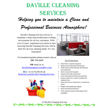 Daville Cleaning Services logo