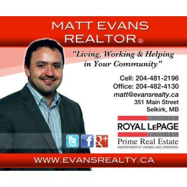Matt Evans - Royal LePage Prime