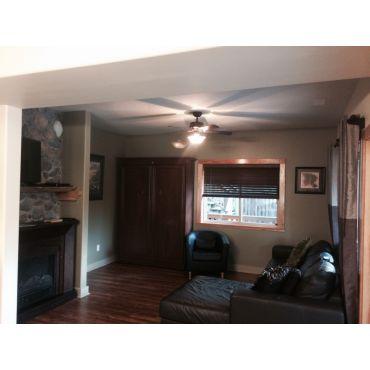 "Living Room, murphy bed, 40"" HDTV, WiFi"
