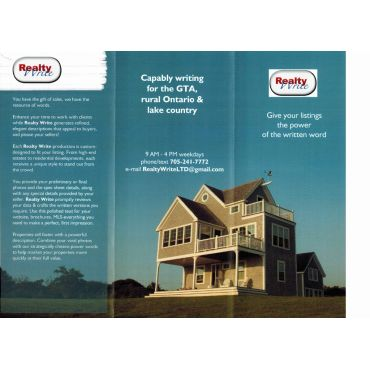 Call or e-mail for a printed brochure!