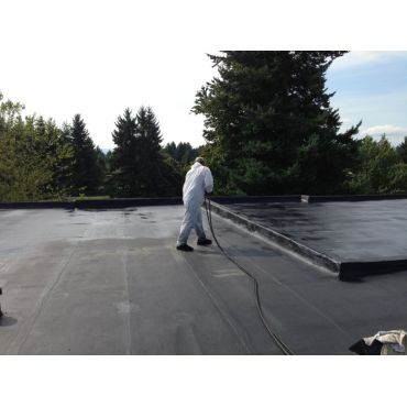 Coating a large Torch on roof