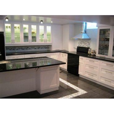 Kitchen floor and backsplash install