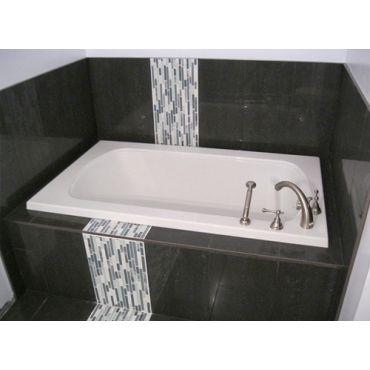 Bathtub Installation with design insert