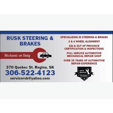 Rusk Steering & Brakes logo