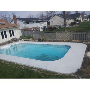 coated pool deck