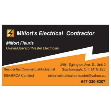 Milforts electrical contractors in toronto on 6473305207 411 business hours colourmoves