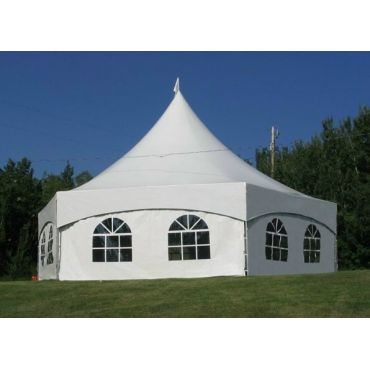 Party tents 20'x20', 20'x30' or 34' hex