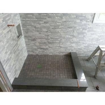 bathroom walls and fllor