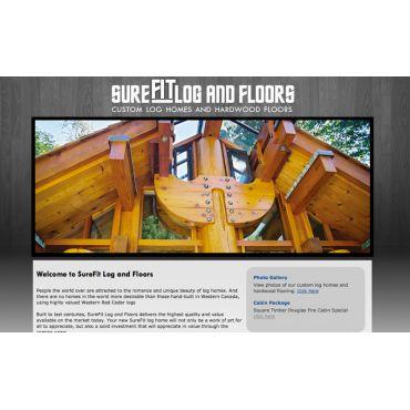 Sure FIT Custom Log Homes and Hardwood