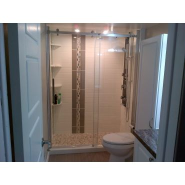 After - spacious walk-in shower