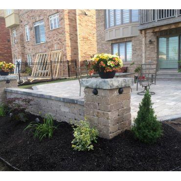 Interlocking - Large Backyard Patio