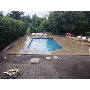 interlock around pool