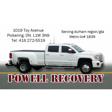 Powell Recovery and Towing Service logo