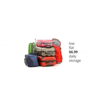 Low luggage storage fees