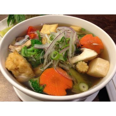Vegetarian Pho with Vegetable Broth