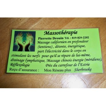 Massotherapie Pierrette Drouin logo