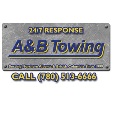 A & B Towing logo