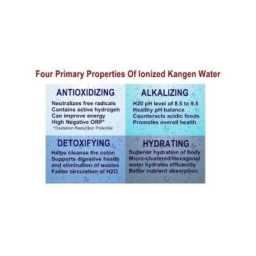 ionized water properties