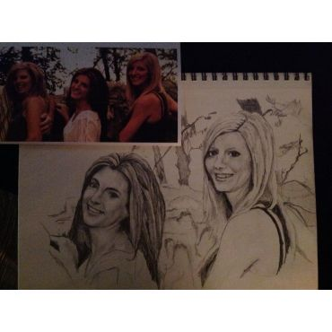 second half of family portrait sketch fo