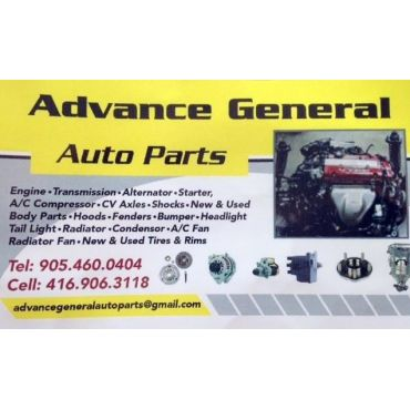 General Auto Parts >> Advance General Auto Parts Inc In Brampton On 9054600404