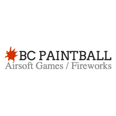 BC Paintball / Airsoft Games / Fireworks logo