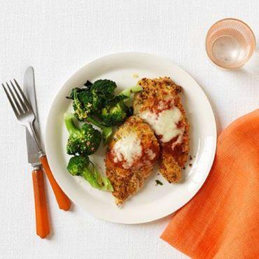 Chicken Parmigiana with Broccoli
